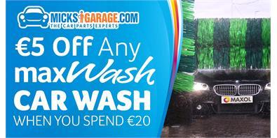 €5 Off Any Max Wash Car Wash For MicksGarage Customers