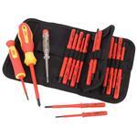VDE Screwdrivers, Draper Expert 05776 Ergo Plus VDE Screwdriver Set with Interchangeable Blades (18 Piece), Draper