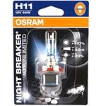 Bulbs - by Bulb Type, Osram Night Breaker unlimited H11 Bulb  - Single, Osram