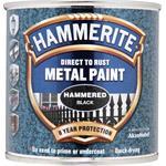 Specialist Paints, Hammerite Direct To Rust Metal Paint - Hammered Black - 250ml, Hammerite Paint