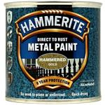 Specialist Paints, Hammerite Direct To Rust Metal Paint - Hammered Gold - 250ml, Hammerite Paint
