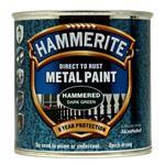 Specialist Paints, Hammerite Direct To Rust Metal Paint - Hammered Dark Green - 250ml, Hammerite Paint