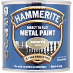 Specialist Paints, Hammerite Direct To Rust Metal Paint - Smooth Gold - 250ml, Hammerite Paint
