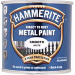 Specialist Paints, Hammerite Direct To Rust Metal Paint - Smooth White - 250ml, Hammerite Paint