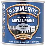 Specialist Paints, Hammerite Direct To Rust Metal Paint - Smooth Silver - 250ml, Hammerite Paint