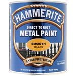 Specialist Paints, Hammerite Direct To Rust Metal Paint - Smooth Yellow - 750ml, Hammerite Paint