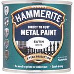 Specialist Paints, Hammerite Direct To Rust Metal Paint - Satin White - 250ml, Hammerite Paint