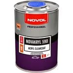 Body Repair and Preparation, Novakryl 590 - Acryl Clearcoat 2+1, 1.0 Litre, Novol