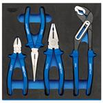 1/2 Drawer EVA Insert, Draper Expert 63263 Heavy Duty Plier Set in 1-2 Drawer EVA Insert Tray (4 Piece), Draper