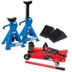 Car Jack Kits, DIY Mechanic Car Lift Kit, Inc Jack, Axle Stands & Wheel Chocks, Draper