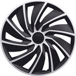 Hub Caps, Turbo Black-Silver Premium 15 Inch Wheel Trim Set of 4 , Petex