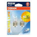 Bulbs - by Bulb Type, Osram ultra Life R5W 12V Bulb  - Twin Pack, Osram
