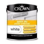 Crown Paint, Crown Quick Dry undercoat Primer Paint WHITE - 2.5L, Crown Paints