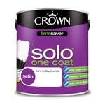 Crown Paint, Crown Solo One Coat Gloss Wood and Metal Paint BRILLIANT WHITE - 2.5L, Crown Paints