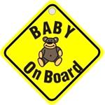 Signs and Stickers, Baby On Board Diamond Sign, CASTLE PROMOTIONS
