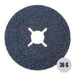 "Sanding, Filing and Finishing, Abracs 4"" Fibre Disc 100mm x 36 grit AL-OX Pack of 25, ABRACS"