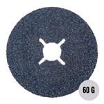"Sanding, Filing and Finishing, Abracs 4"" Fibre Disc 100mm x 60 grit AL-OX Pack of 25, ABRACS"