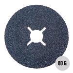 "Sanding, Filing and Finishing, Abracs 4"" Fibre Disc 100mm x 80 grit AL-OX Pack of 25, ABRACS"