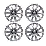 Hub Caps, J-Tec Modena Silver 13 Inch Wheel Trim Set of 4, J-Tec