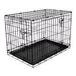 Dog and Pet Travel Accessories, RAC Metal Fold Flat Crate - Medium, RAC