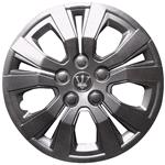 Hub Caps, 14 Inch Metallic Grey Andretti Wheel Trim Set of 4 , Streetwize