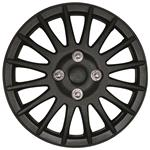 Hub Caps, 15 Inch Matt Black Lightning Wheel Trim Set of 4, Streetwize