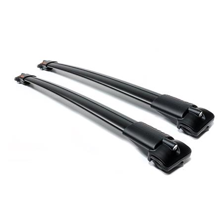 Aguri ultra Aerodynamic roof bars for cars with raised rails, supplied with locks and keys