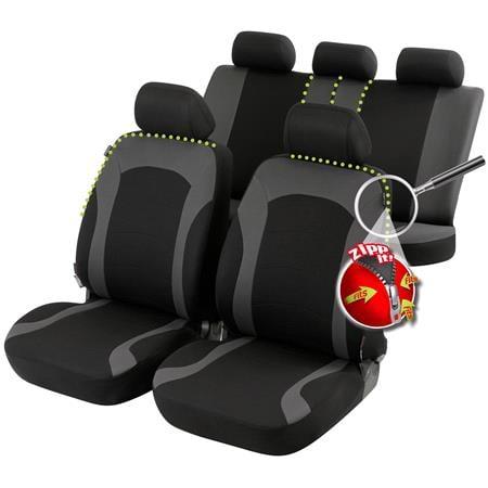 Inde car seat cover   Black & Grey for Peugeot 207 Saloon 2007 Onwards