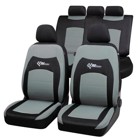 RS Racing Car Seat Cover  Black & Grey for Peugeot 207 Saloon 2007 Onwards