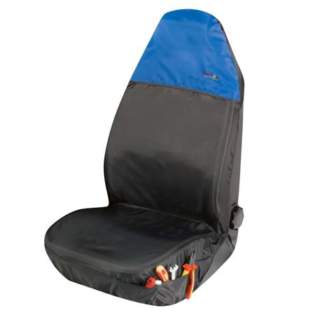 universal Protective Car Seat Cover Outdoor Sports   Black & Blue