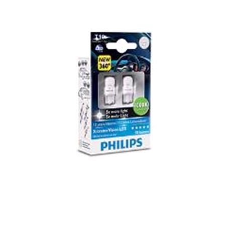 Philips X tremeultinon LED LED T10 (W5W)  Bulb    Twin Pack