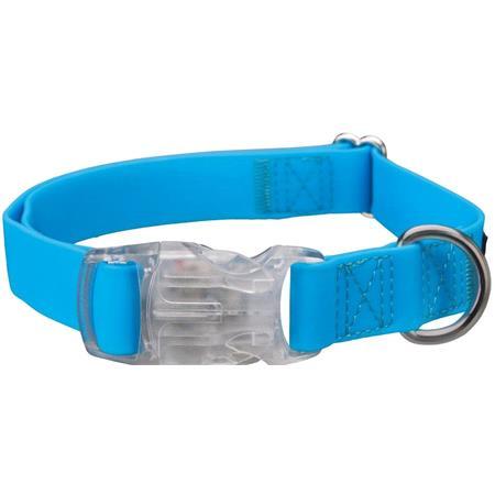Fully Adjustable USB Dog Flash Collar, Neon Blue  Medium Dogs (50 70cm)