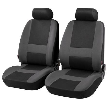 Pocatello Front Car Seat Covers in Grey & Black   for Peugeot 207 Saloon 2007 Onwards