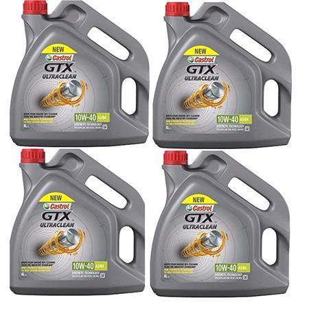Castrol GTX ultraclean 10w40 A3 B4 Semi Synthetic Engine Oil. 16 Litre