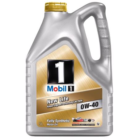 Mobil 1 New Life 0W40 Fully Synthetic Engine Oil. 5 Litre