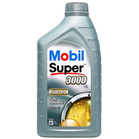 Mobil Super 3000 X1 5W 40 Fully Synthetic Engine Oil   1 Litre