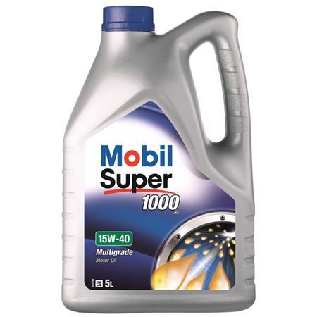 Mobil Super 1000 X1 15W40 Mineral Engine Oil. 5 Litre