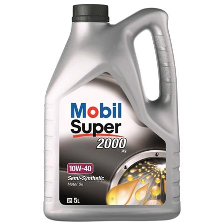 Mobil Super 2000 X1 10W40 Semi Synthetic Engine Oil. 5 Litre