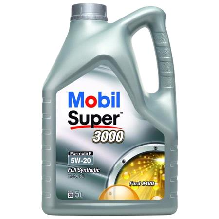 Mobil Super 3000 Formula F 5W20 Fully Synthetic Engine Oil. 5 Litre