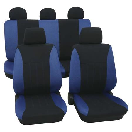 Blue & Black Car Seat Covers   For Mitsubishi Outlander up to 2007