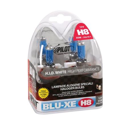 12V Blu Xe halogen lamp   H8   35W   PGJ19 1   2 pcs    Box