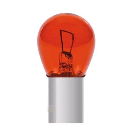 12V Red Dyed Glass, Single filament lamp   P21W   21W   BA15s   2 pcs    D Blister