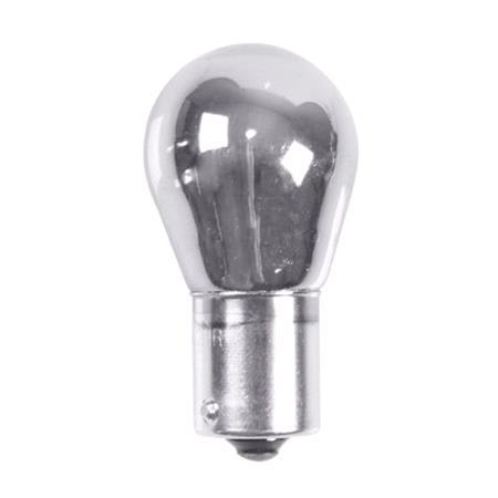 12V Single filament lamp   P21W   21W   BA15s   2 pcs    D Blister   Chrome Red