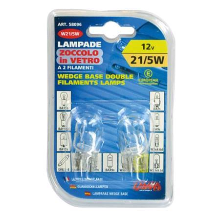 12V Wedge base lamp   W21 5W   21 5W   W3x16q   2 pcs    D Blister