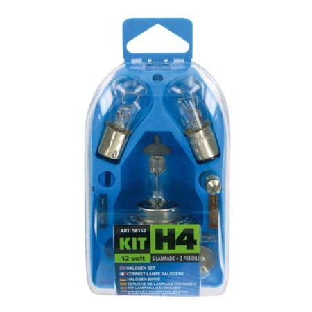 Spare lamps kit 8 pcs, 12V   H4 halogen