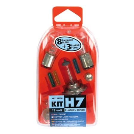 Spare lamps kit 11 pcs, 12V   H7 halogen