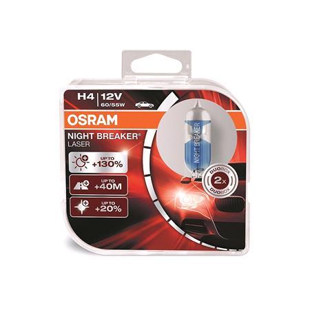 Osram Night Breaker Laser H4 Bulb    Twin Pack