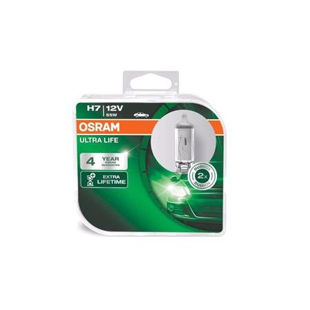 Osram ultra Life H7 12V Bulb   Twin Pack