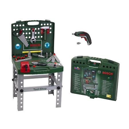 Bosch Kids Tool Shop with Foldable Workbench & Power Tools!