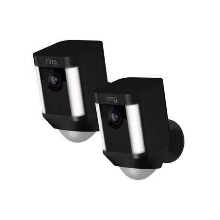Ring Spotlight Cam Battery   Black   2 Pack
